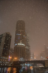 DSC05722 (sylviagreve) Tags: 2017 chicago chicagoriver marinatowers snow