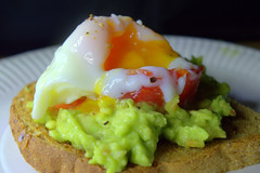 Smashed Avocado & Poached Egg on Toast (Tony Worrall) Tags: add tag ©2017tonyworrall images photos photograff things uk england food foodie grub eat eaten taste tasty cook cooked iatethis foodporn foodpictures picturesoffood dish dishes menu plate plated made ingrediants nice flavour foodophile x yummy make tasted meal nutritional freshtaste foodstuff cuisine nourishment nutriments provisions ration refreshment store sustenance fare foodstuffs meals snacks bites chow cookery diet eatable fodder smashed avocado poached egg toast yolk runny yellow