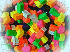 Tetris Type Blocks (clarkcg photography) Tags: plastic blocks tetris locking colors marbles glass macro holidayfreetheme 7dwf