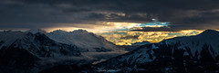 Un Nouveau Jour en Maurienne 2/2 (Frédéric Fossard) Tags: panorama landscape sky mountain nuages clouds merdenuage vallée valley lumière light ombre shadow matin morning aurore aube dawn alpes savoie vanoise maurienne cimes crêtes mountainrange mountainridges hiver winter snow snowcapped mountainside flancdemontagne sunrise leverdujour leverdesoleil alpenglow
