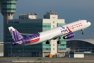 HK Express A321 B-LEB departing HKG/VHHH