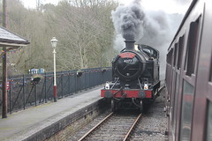 4277 at Froghall (g4vvz) Tags: gwr 4200 280t 4277 hercules steam engine churnet valley railway dartmouth uk br black bradnop froghall