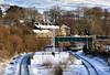 Chilly Chinley (whosoever2) Tags: england unitedkingdom uk gb greatbritain nikon d7100 december 2017 railway railroad train chinley derbyshire tpe transpennine express snow winter ice cold sun bleak