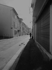 Happy New Year! Bonne Année! (blazedelacroix) Tags: street woman perspective bnw bw blazedelacroix village new 2018 noiretblanc konica