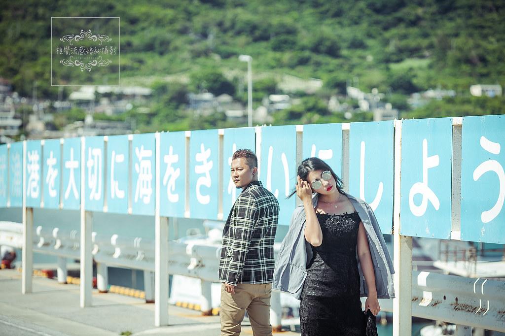 海外婚紗,婚禮,攝影,自助旅拍,國外,日本,沖繩,奧武島,貓,天婦羅