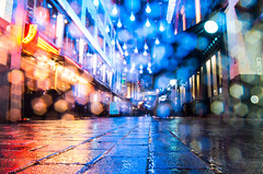 Colourful Christmas Lights on Carnaby Street (Jshepherd97) Tags: photography traffic shopping umbrellas london central piccadilly circus oxford street londonist lights christmas winter rain cold wet people carnaby xmas colourful lens flare bokeh