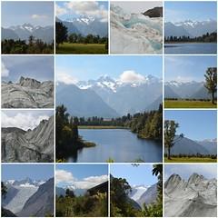 New Zealander journey - Part VI (Pedro Nuno Caetano) Tags: fdsflickrtoys newzealand franzjosefglacier lakematheson foxglacier journey mosaic