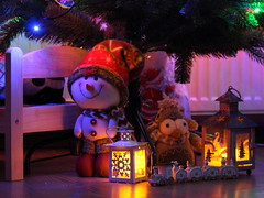 All Together (Agne Barde) Tags: smileonsaturday fromoldtonew snowman penguin toys holidayseason christmas train newyear light winter