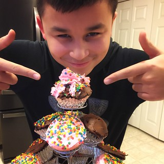 Bam!   I think I gonna regret letting them consume all that icing.