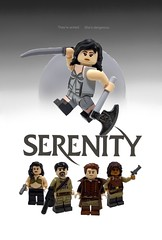 Serenity (Barratosh#2) Tags: lego serenity firefly joss whedon whedonverse river tam malcolm reynolds inarra serra jayne cobb zoe washburne hamish wash simon kaylee shepherd book future minifigure poster