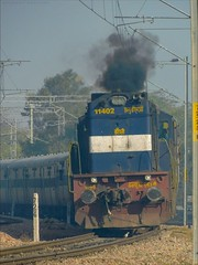 Jhansi[JHS] WDM-3D Smokes Out Hauling Mathura Jaipur Passenger! (Anubhav_Kashyap) Tags: jhs wdm3d 11402 mathura jaipur passenger passengertrain indialove indiatravel indianrailways incredibleindia railroad railwaylover northwesternrailways nwr rajasthan worldwidetrains anubavkashyap highqualityphoto photography