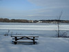 Too cold for a picnic on Bate Island in Ottawa, Ontario (Ullysses) Tags: bateisland ottawa ontario canada ottawariver winter hiver rivièredesoutaouais picnictable tabledepicnic