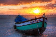 Mimosa (Xtian du Gard) Tags: xtiandugard painting nazaré sunset portugal boats