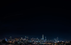 dolores heights horizon (pbo31) Tags: bayarea california nikon d810 color december 2017 boury pbo31 northerncalifornia sanfrancisco city night black dark skyline urban salesforce 181fremont construction lightstream traffic motion roadway baybridge 80 bridge dolorespark transamerica tower over financialdistrict
