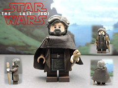 Custom LEGO Star Wars The Last Jedi: Luke Skywalker (Will HR) Tags: lego custom minifigure starwars thelastjedi episode8 lukeskywalker