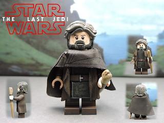 Custom LEGO Star Wars The Last Jedi: Luke Skywalker