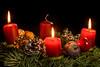 Third Sunday Of Advent (dietmar-schwanitz) Tags: advent adventszeit feierlich christmas christmastime weihnachten weihnachtszeit fest feier kerzen candles candle kerze kerzenlicht candlelight licht light adventskranz adventwreath festlich festive nikond750 nikonafsmicronikkor105mmf28ged lightroom dietmarschwanitz
