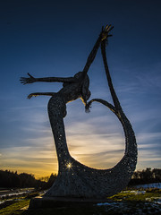 """ After all I've only got two pairs of hands"" (iancook95) Tags: arria cumbernauld scotland andy scott"