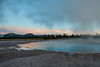 Turquoise Pool at Dawn (jameslosey) Tags: yellowstone yellowstonenationalpark yellowstonenps opal pool grand prismatic spring geyser basin midway dawn blue hour canon6d canon