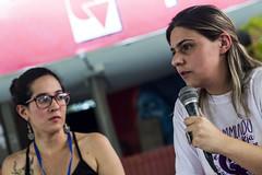 Bertha Lucia Fries Martinez, lidereza de víctimas del atentado del Club del Nogal y Victoria Sandino, última comandanta de las Farc antes de su disolución, se estrecharon en un abrazo de unidad. Ceremonia de paz colectiva. (ellasmujeres) Tags: ella mujer cali colombia encuentro latinoamericano mujeres feminismo lucha univalle