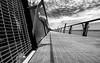 Straight but not so narrow (OzzRod) Tags: pentax k1 hdpentaxdfa1530mmf28 blackandwhite monochrome lines shadows walkway croudacebay lakemacquarie pentaxart