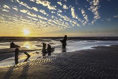 彰濱海岸 夕陽 (Sam's Photography Life) Tags: 彰化 濱海 工業區 彰濱 海岸 夕陽 風景 沙灘 潮間帶 海邊 canon landscape colorful cloud blue 5d4 5d marco mraco markiv mark4 1635