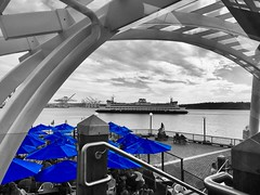 """If you enter this world knowing you are loved and you leave this world knowing the same, then everything that happens in between can be dealt with."" ―Michael Jackson ☁️ 🚢 💦 (anokarina) Tags: appleiphone6 pikeplacemarket seattle washington wa pnw pacificnorthwest pugetsound clouds greatwheel ferriswheel fishermanswharf colorsplash blue restaurant umbrellas architecture design barge boat ship"