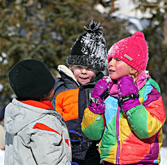 Red Cheeks (Colorado Sands) Tags: kids children usa colorado breckenridge sandraleidholdt winter snow people playing