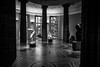 a day at the museum / art is what you make it (Özgür Gürgey) Tags: 2017 20mm bw d750 hamburg kunsthalle nikon voigtländer architecture drawing gallery hall people sculpture