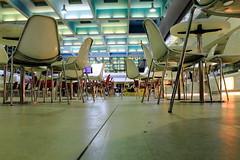 Inside Mars airport (zuhmha) Tags: hiver winter marseille france airport aéroport chaises chair perspective line lignes courbes curve geometry géométrie