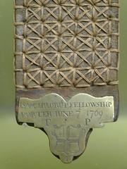 Fellowship Porter's Badge, 1709 (failing_angel) Tags: 220817 london thames docklands museumoflondon fellowshipporter fellowshipportersbadges badges citycorporation towerhamlets