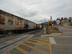 At the crossing (jamica1) Tags: train freight cp canadian pacific railways salmon arm shuswap bc british columbia canada
