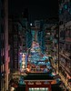 Temple street, Hong Kong (reinaroundtheglobe) Tags: hongkong kowloon china asia templestreet night nightphotography city citylife urban highangleview streetphotography streetshot illuminated buildings