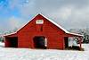 Red Barn in the Snow.jpg (Chatterstone Photography) Tags: cumming darnellfarms georgia landscape barn red snow cold ice hdr 3xp