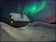 winter-solstice (TAWPhotoArtistry) Tags: photoart photoshopartistry photoartistry solstice northernlights winter snow