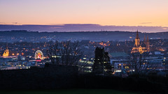 Cork Panorama (Kjeldvdh) Tags: cork sunset panorama park ireland munster city cityscape church ferris wheel cloud horizon nikon urban eire winter