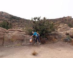 021 Kim Gets Her Control (saschmitz_earthlink_net) Tags: 2018 california orienteering vasquezrocks aguadulce losangelescounty laoc losangelesorienteeringclub