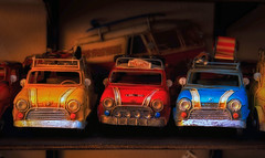 mini (try...error) Tags: red rot yellow gelb blau blue bleu rouge car diorama toy