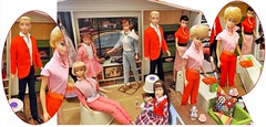 ALL CHANGE! (ModBarbieLover) Tags: 1965 bubblecut fashion doll barbie ken swirl ponytail red pink deluxe dream house toy skipper vintage