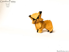Gremlins Puppy - Barth Dunkan. (Magic Fingaz) Tags: anjing barthdunkan chien chó dog gremlins hond hund köpek monster origami perro pies пас пес собака หมา 개 犬 狗