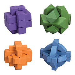 Bits and Pieces - Set of Four (4) Colorful Brainteaser Puzzles - Brain Game Puzzle for Adults (saidkam29) Tags: adults bits brain brainteaser colorful four game pieces puzzle puzzles