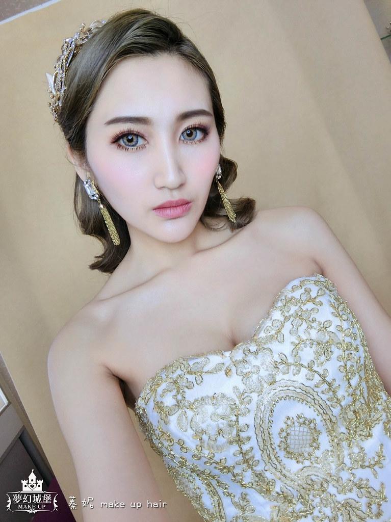 【新秘蓁妮】新娘造型創作 / 名媛水波紋造型