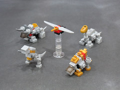 Dinobots WIP (Grantmasters) Tags: micro dinobot transformer lego moc