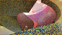 Groninger Museum (Bert Kaufmann) Tags: nederland netherlands niederlande paysbas paesibassi groningen stadgroningen museum groningermuseum stairway wenteltrap mozaïek colours colors kleuren tegeltjes tiles swing architecture architectuur