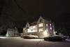 Hackerspace Hack42: Nightly Winter Wonderland (dvanzuijlekom) Tags: 2017 arnhem avond buitenkant canonef24mmf14liiusm canoneos5dmarkiii chriettitulaer december hack42 hackerspace koningsweg nacht night outside sneeuw snow thenetherlands vrijland winter winteriscoming christuskoningkapel christuskoningkapelschaarsbergen chapel kapel kerk church