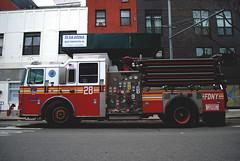 Fire Truck (R. WB) Tags: fire truck new york city usa america american street brigade department