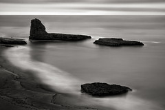 Pacific Deflection (StefanB) Tags: 1235mm 2017 california coast em5 geotag longexposure monochrome pacific santacruz seascape horizon fourmilebeach sea ocean coastal