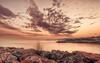 Orange sunset (vlajko611) Tags: sunset greece kassandra hellas sea rocky coast coastline clouds