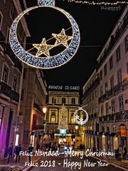 NAVIDAD (raperol) Tags: navidad street calle nocturna noche airelibre arquitectura lisboa lisbon