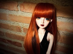 Carole (akemihitomi) Tags: iphonese orangehair doll bjd 14 msd souldoll amy